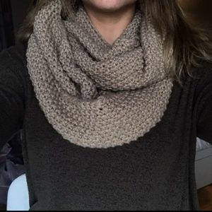 Taupe/light Brown Infinity Scarf